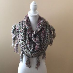 Anthropologie Madison 88 Fringe Infinity Scarf